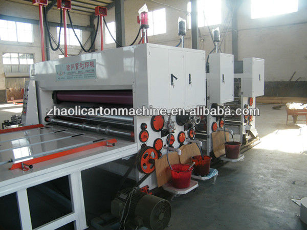 chain feeding flexo 4 colors printing slotting die cutting machine