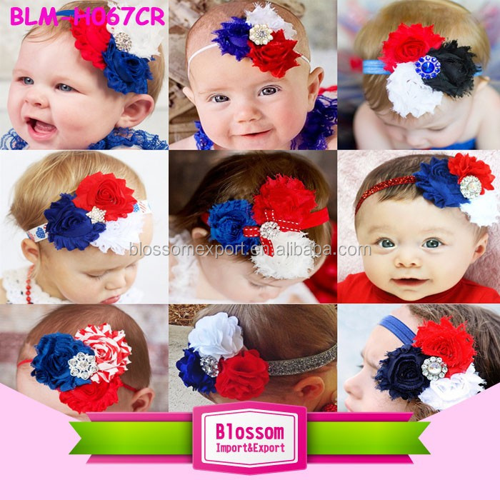 4th of July Cute star baby girl flower headband boutique new born baby accessories