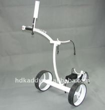 colorful stainless steel electric golf trolley with motor brake