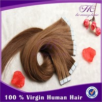 Ebay Best Selling Top Quality Virgin Natural Remy Grade 6A 7A 8A European Curly Skin Weft Tape Hair Extensions