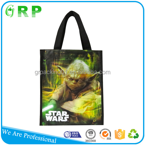 BSCI ISO Logo customized promotional shopping pp nonwoven shopping bag