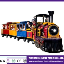 Outdoor tourism guide battery trackless park tour train