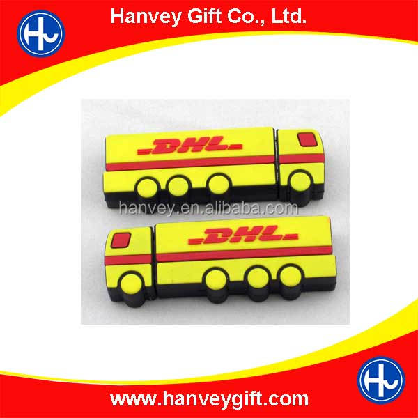 Custom design free logo truck shape flash drive usb, usb 3.0