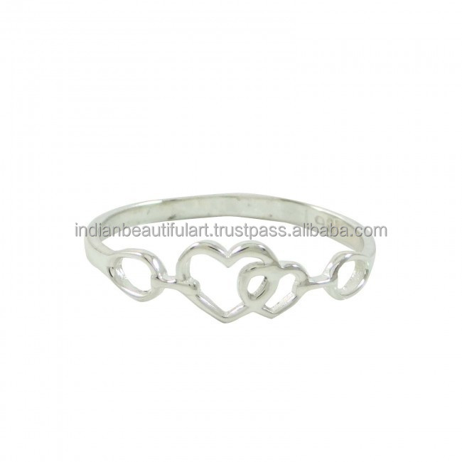 Sterling Silver Ring Women Marked 925 Indian Fashion Jewellery Rings