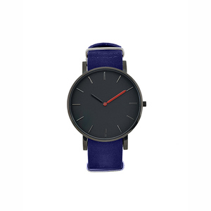 Minimalist style custom logo mens leather wrist watches