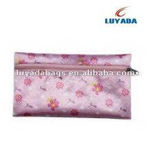 Top grade cosmetics bag with printings material makeup pouch small beauty bag with zipper