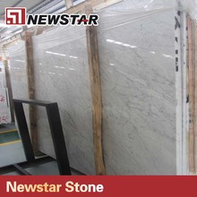 Newstar big slab stone bianco carrara marble for kitchen countertop
