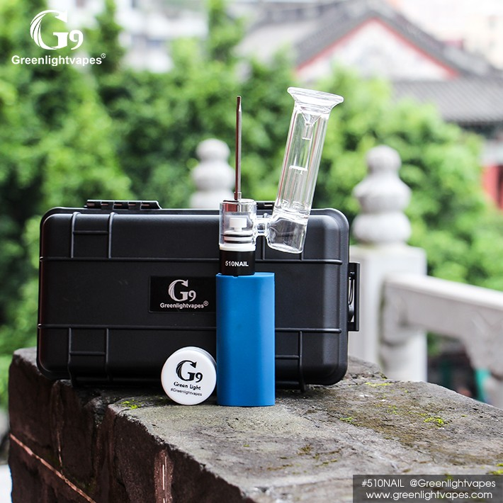 2016 G9 510nail with smoking pipe 510nail water glass bubbler
