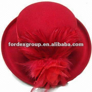 2012 Fashion Wool Fedora Hat with Feather for Women