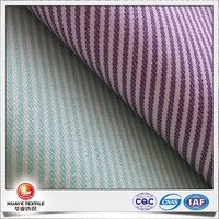 New design designing clothing polyester cotton striped oxford fabric