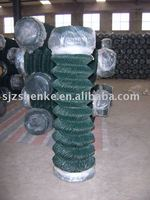 pvc coated chain link fence.diamond fence. railway fence