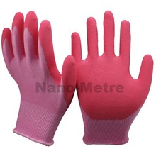 NMSAFETY 13 gauge abrasion resistent hand gloves foam latex garden glove