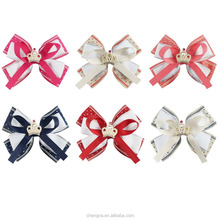 Temperament Girls Centre Crown Double Stacked Hair Bows HBW-1612251-X