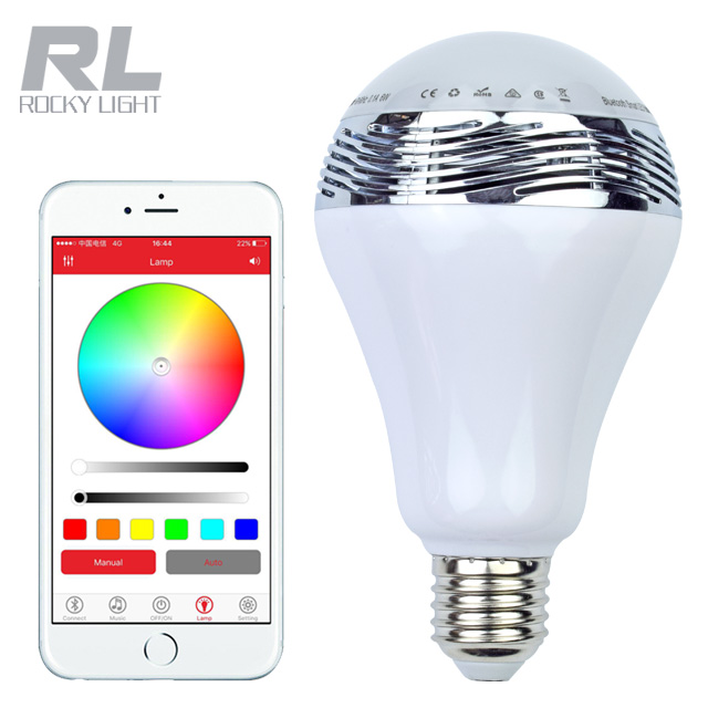 Texsens Smart Light Bulb Speaker Generation II with Updated Remote Control - New Function of Light Flashing as Music Goes