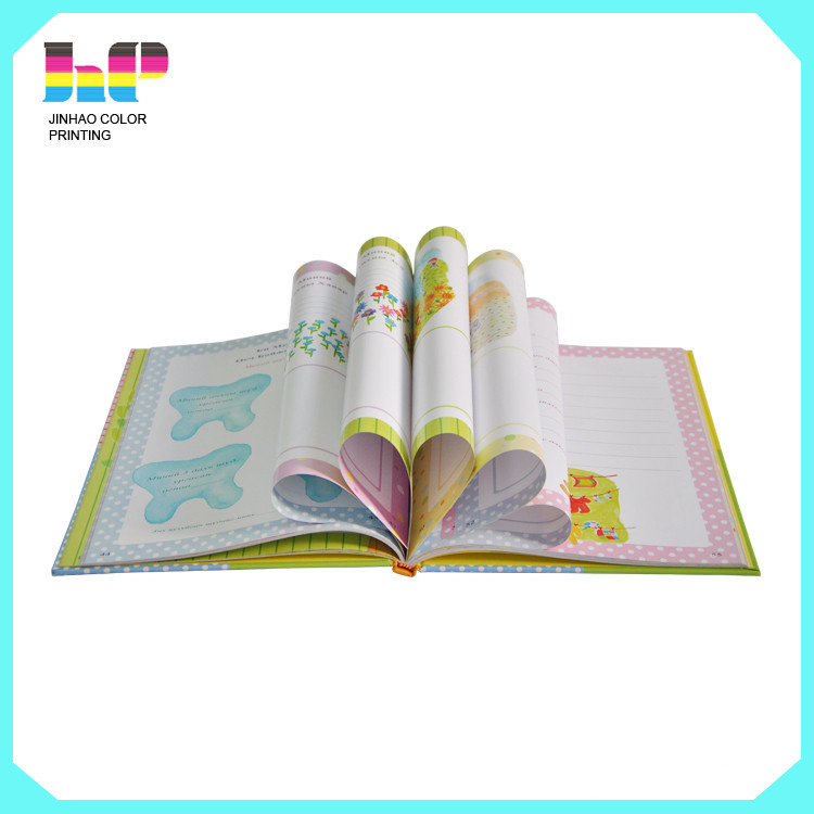 child color filling book print service with stickers and reading pen