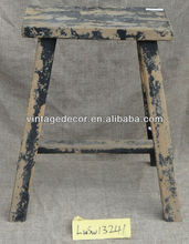 Rustic style industrial furniture wooden stool
