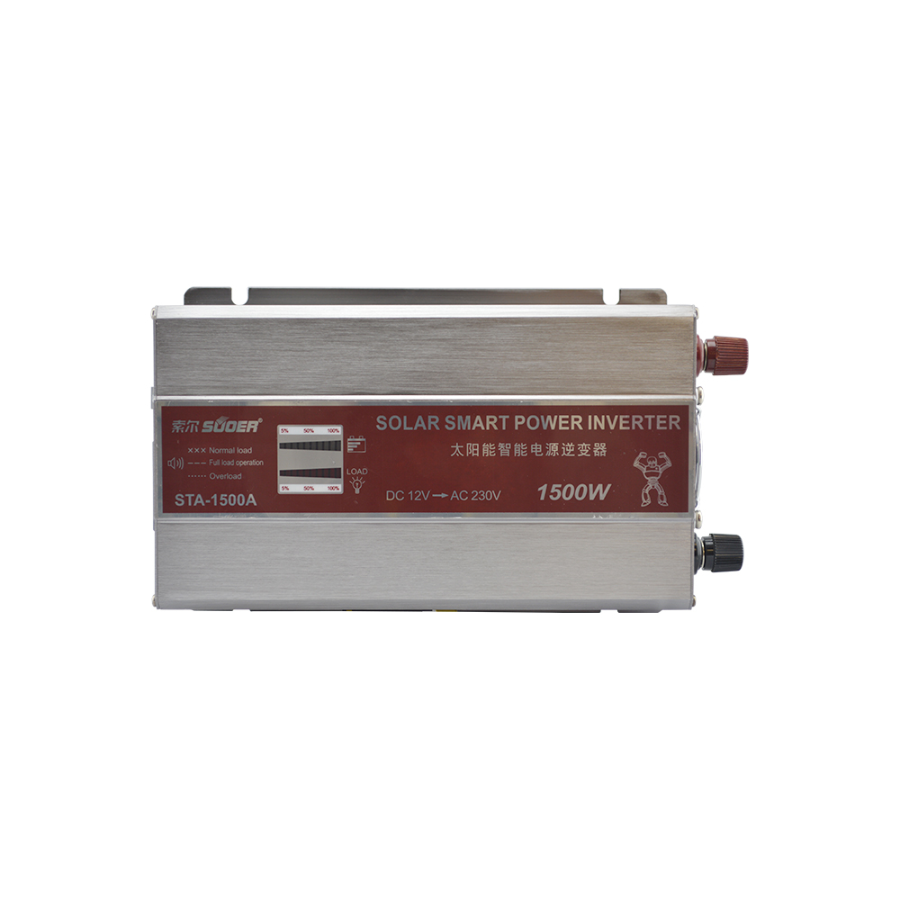 Suoer Factory Price 1500W <strong>DC</strong> 12V to AC 230V Smart Solar Power Inverter with LED Display