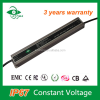 no dimmable constant voltage waterproof IP67 led drivers 40w 36v SAA CE led strip power supply