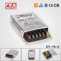 CY-15-5 mini led 15w 5v 3a slim smps ,switch mode power supply / regulator