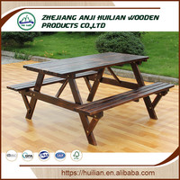 Wooden Outdoor Furniture Table Patio Bench for Garden and Park