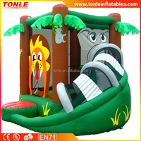 Animal themed mini inflatable jumper/ Mini-bounces inflatable for kids birthday party