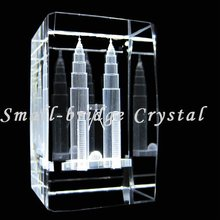Crystal 3D Laser Etched Petronas Twin Towers