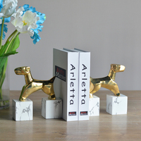 Hot sale decorative polyresin bookends interior decorations