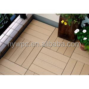 High Quality Interlocking outdoor deck tiles/WPC DIY Floor/ Wood plastic from China