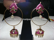 Round Pink Earrings