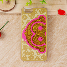 "Wholesale Dynamic Monkey Glitter Sand Quicksand Star PC + TPU Liquid Transparent Glitter Case for iPhone 6 4.7"" 6S Plus 5.5"""