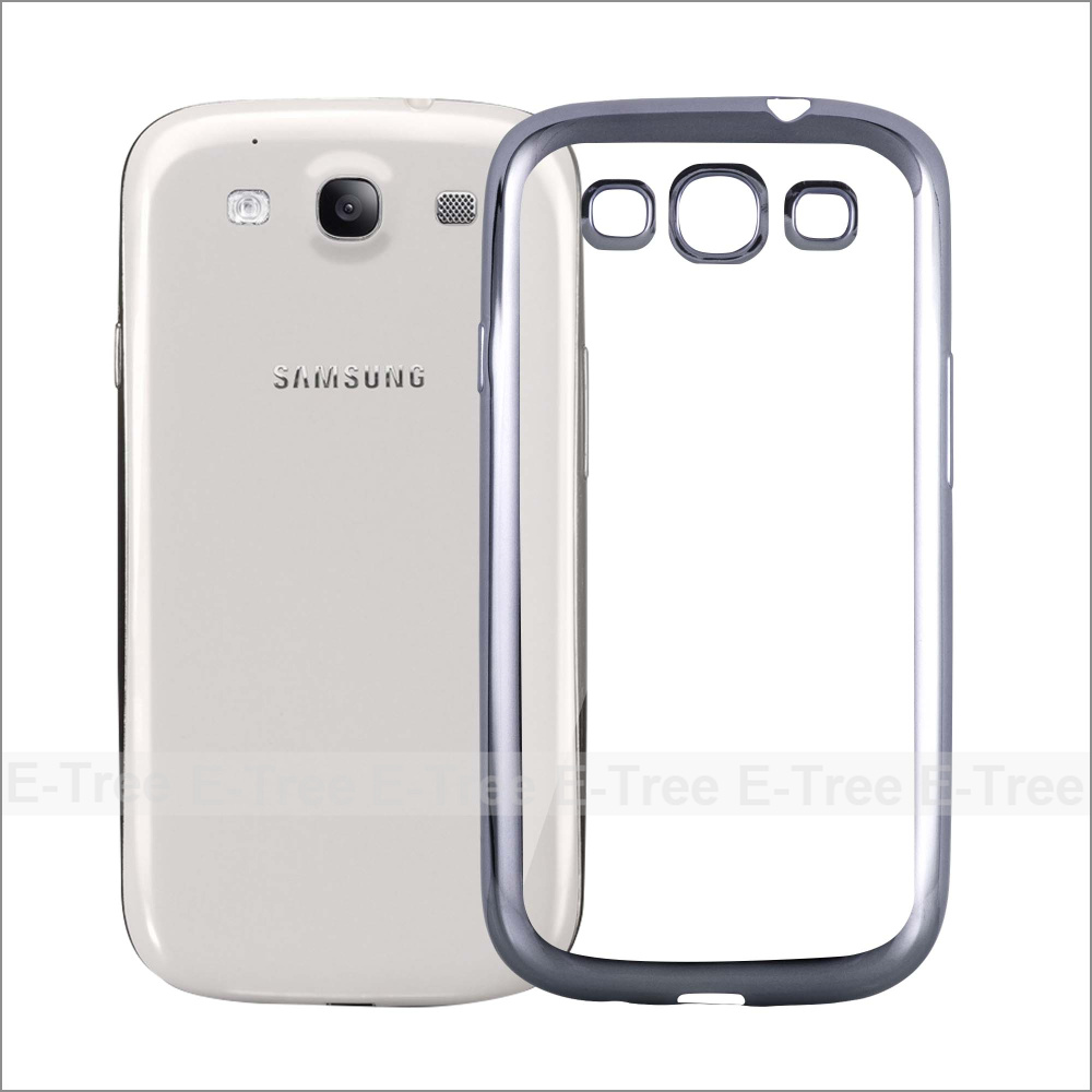 Chrome TPU Soft Phone Case For Samsung Galaxy S3