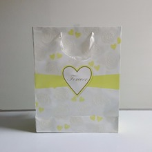 Custom cheap promotional decoration light up food shopping gift recycled paper bag