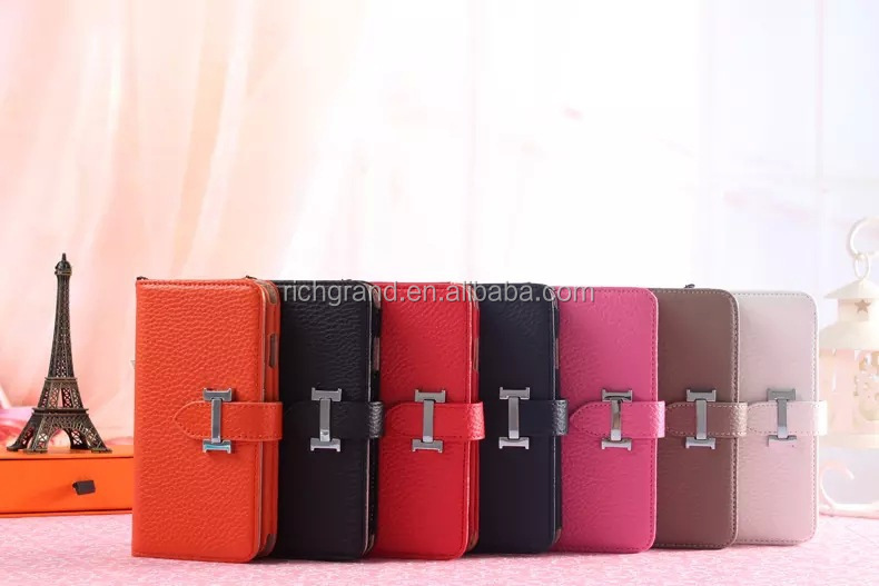 Flip Leather Wallet clip mobile phone pouch case for iphone 5 5s 5c 6 6plus