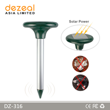 Wholesale Insect Repellent ABS Plastic Green Soalr Snake Repeller/Mole Chaser, Solar Animal Repeller
