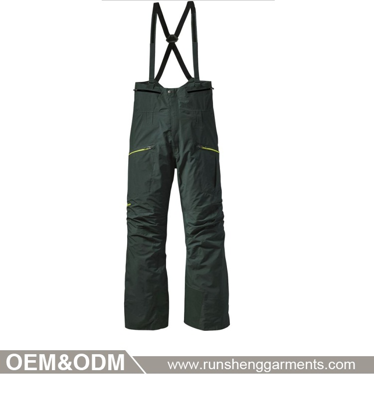 Unisex men women outdoor on board grey ski pants