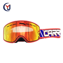 made in China separate lens logo printed adult size colorful lens MX goggles