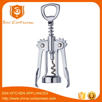 Zinc alloy corkscrew winged wine bottle opener