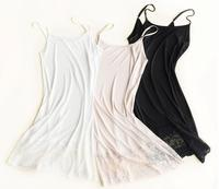 100% Pure Silk Ladies Full Slip Long Strappy Cami
