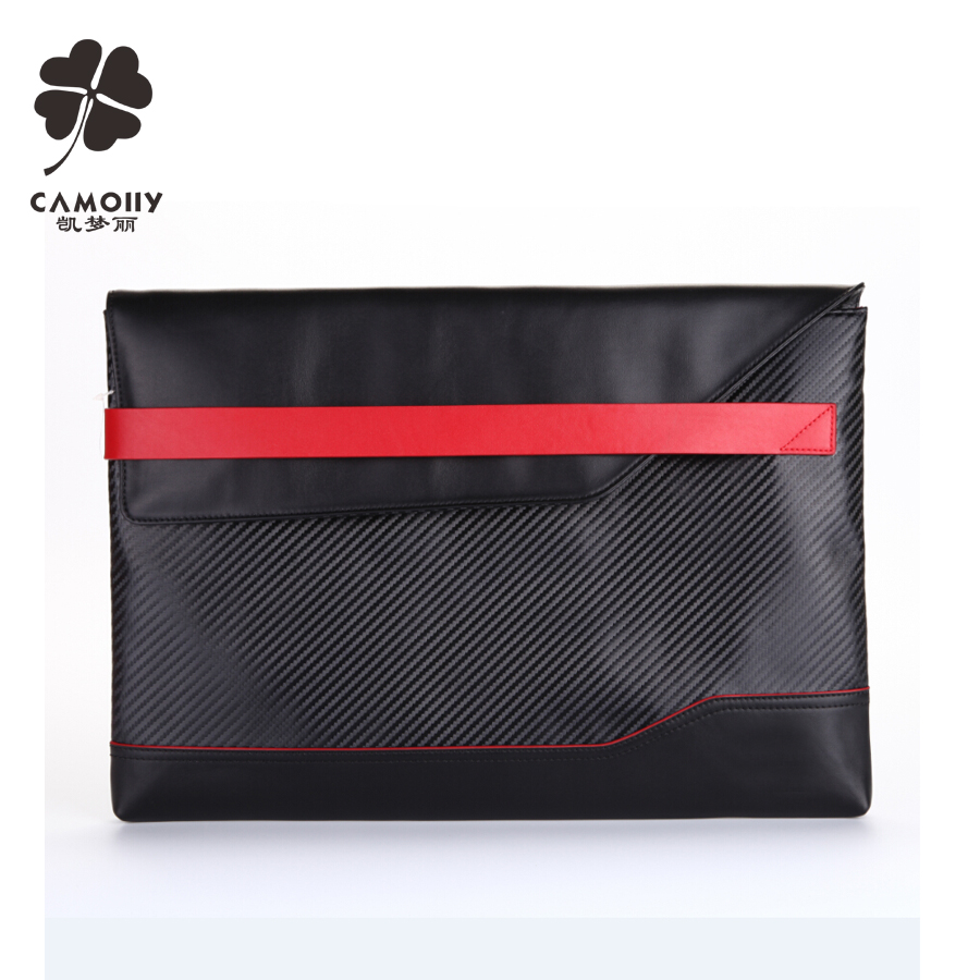 china supplier wholesale nylon trimmed with leather tablet sleeve bag case for ipad air 1/2/3/pro
