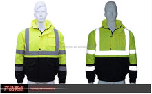 traffic reflective safety raincoat with pockets