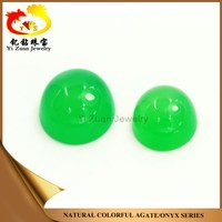 Hot Sale New Design Round Shape Cabochon Natural Green Rough Chalcedony
