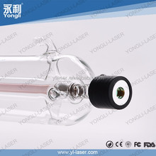 good beam spot 1 year warranty Yongli brand CE product 1250mm 90w co2 laser tube