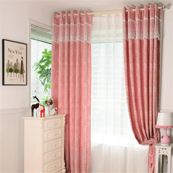 manufacturers hot sale 100% polyester custom lace curtains