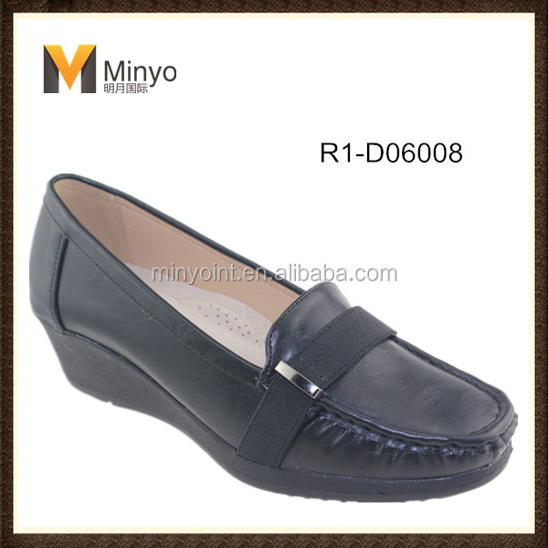 Minyo new design high heel moccasion shoes for women