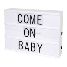 2017 New White Color Factory Price Fast Delivery Decorative LED Letters Light Marquee Sign Light Box