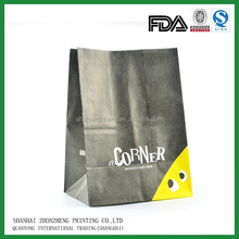 Food industrial use kraft paper bag for grocery packaging / grocery packaging bag with customized logo