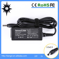20v 2a 40w netbook power adapter for lenovo