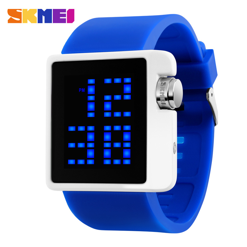 Children's gift led watches unisex silicone strap digital sports led watch