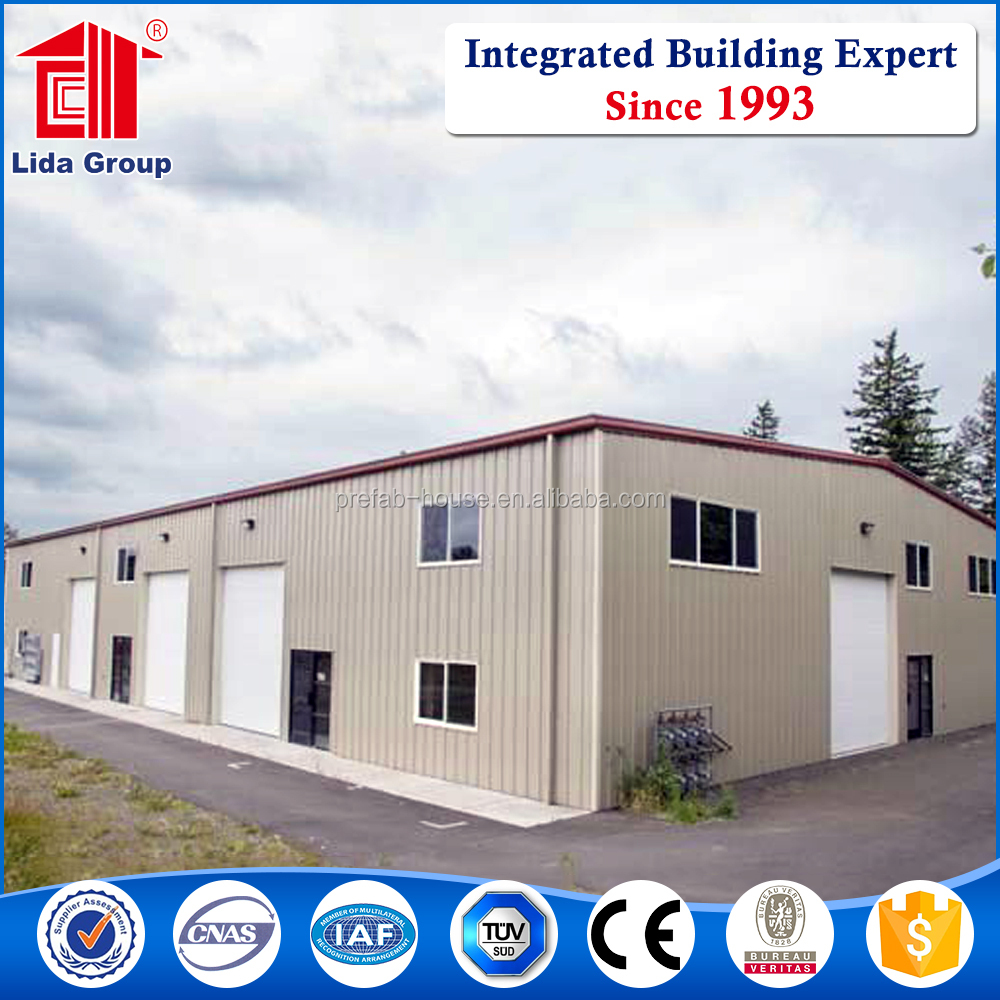 Industrial shed design steel structure warehouse prefabricated building in factory