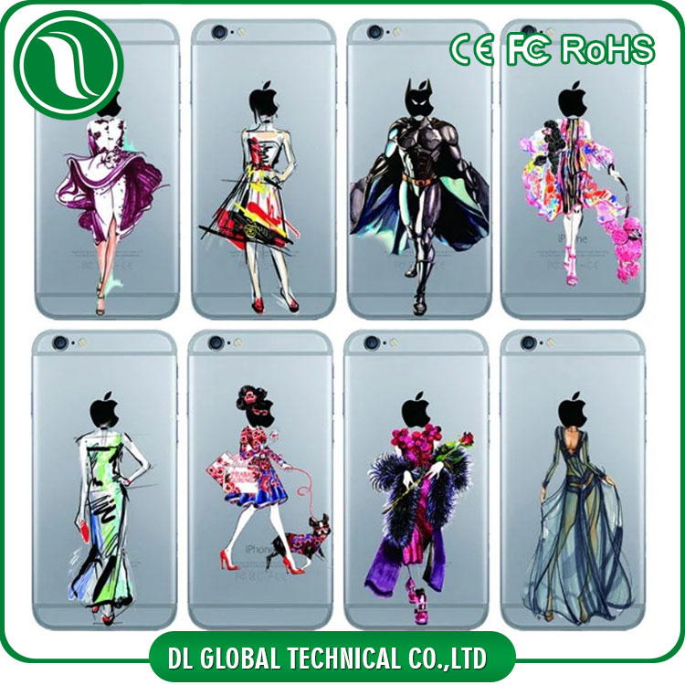 Hard frosted plastic case fashion show model printing case for iphone 5